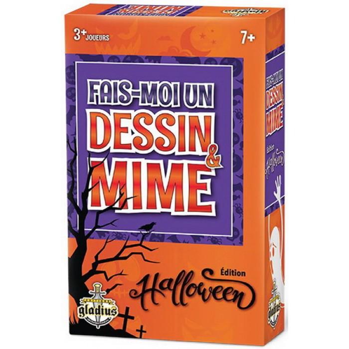Fais-moi un dessin & Mime(édition Halloween)un jeu de groupe sous le thème d'Halloween pour 3 joueurs et plus à partir de 7 ans - Franc Jeu Repentigny