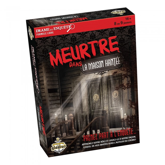 Drame et enquête: Meurtre dans la maison hantéeest un jeu de meurtre et mystèrepour 16ans et plus - Franc Jeu Repentigny