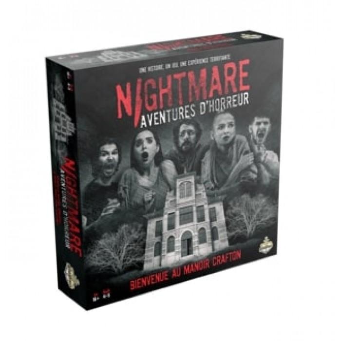 Nightmare Aventures d'horreur est un jeu d'ambiance sous le thème de l'horreur pour 16ans et plus - Franc Jeu Repentigny