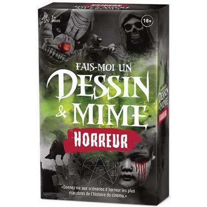Fais-moi un dessin & Mime(édition Horreur)un jeu de groupe sous le thème d'Halloween pour 3 joueurs et plus à partir de 18 ans - Franc Jeu Repentigny