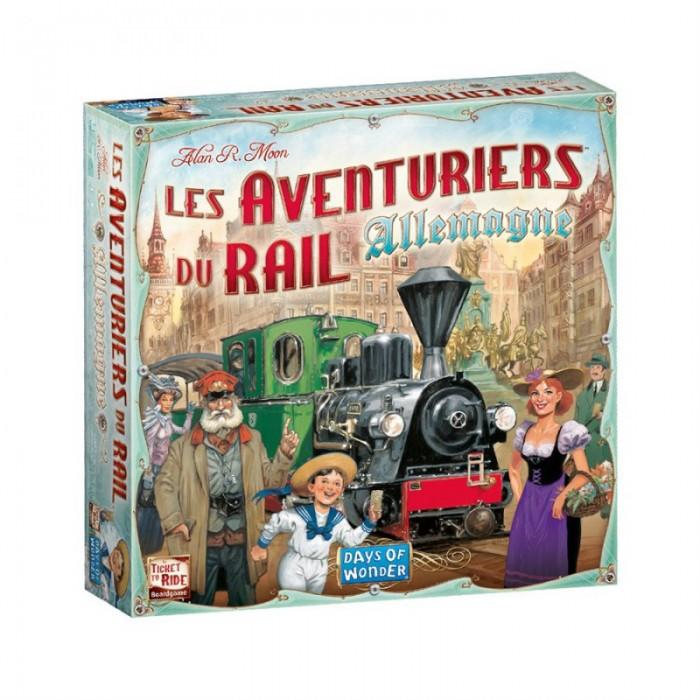 Les Aventuriers du Rail: Allemagneest un jeu de d'objectifs secretsoù l'on doit placer des trains de 2 à 5 joueurs pour 8 ans et plus- Franc Jeu Repentigny