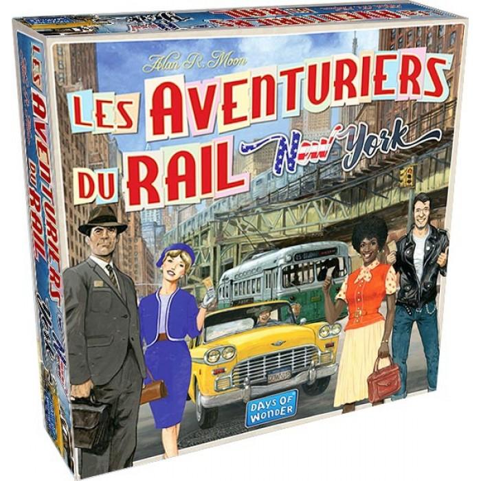 Les Aventuriers du Rail: New Yorkest une version rapide d'une durée de 15 minutes du jeu Les Aventuriers du Rail, de 2 à 4 joueurs pour 8 ans et plus - Franc Jeu Repentigny