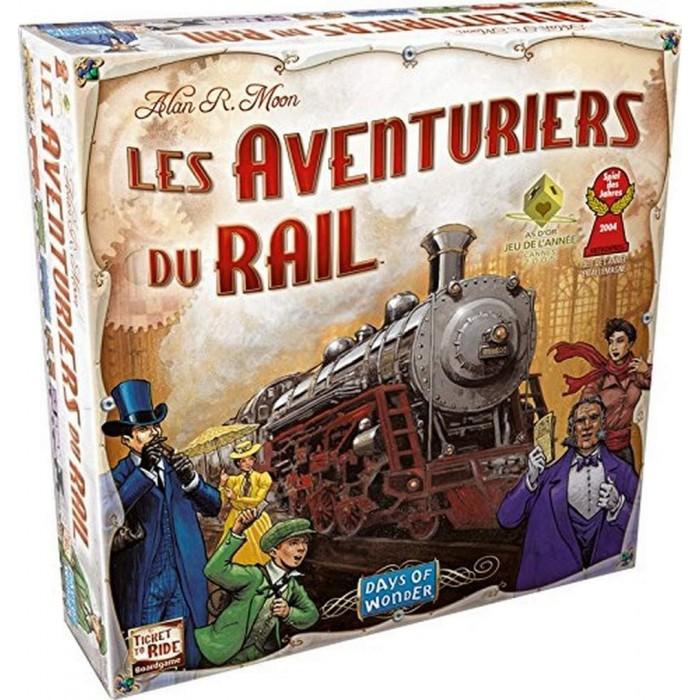 Les Aventuriers du Rail: USAest un jeu de d'objectifs secretsoù l'on doit placer des trains de 2 à 5 joueurs pour 8 ans et plus - Franc Jeu Repentigny