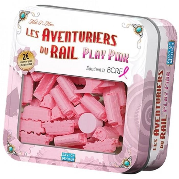 Ajoutez les trains rosesde Play Pink à vos jeux d'Aventuriers du Rail en support à la cause! - Franc Jeu Repentigny