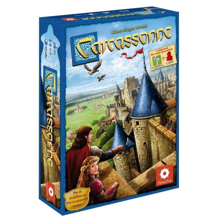 Carcassonne est un jeude pose de tuile pour 2 à 5 joueurs pour 7 ans et plus - Franc Jeu Repentigny