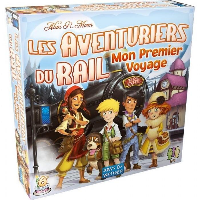 Les aventuriers du rail: Mon premier voyage - Europe est un jeud'objectifsde2 à 4joueurs pour 6 ans et plus - Franc Jeu Repentigny