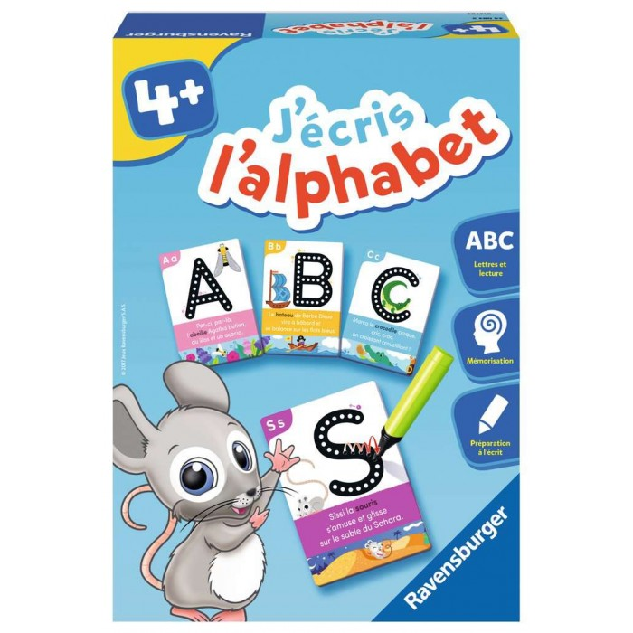Ravensburger: J'écris l'alphabetest un jeu éducatif traçage de lettres pour les enfants de 4ans et plus - Franc Jeu Repentigny