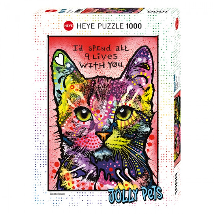 Casse-tête vertical Heye de 1000 pièces: 9 Lives (D. Russo - Jolly Pets Collection) - Franc Jeu Repentigny