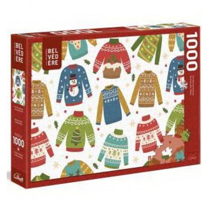 Chandail de Noël est un casse-tête 1000 pièces desfêtes de Trefl - Franc Jeu Repentigny