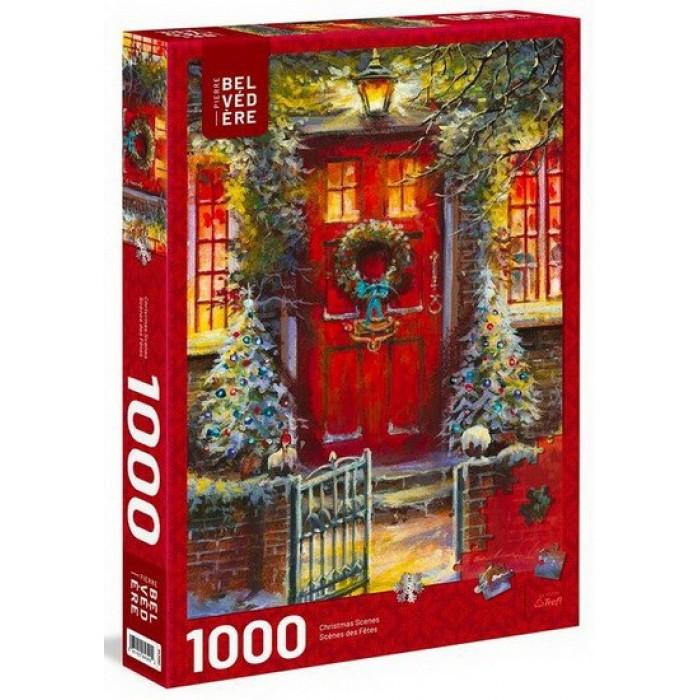 La porte rougeest un casse-tête 1000 pièces desfêtes de Trefl - Franc Jeu Repentigny