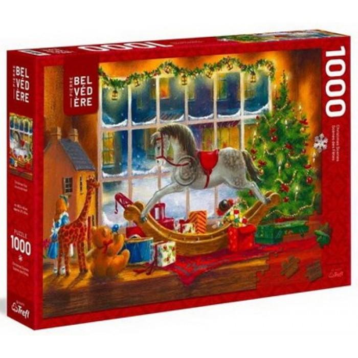 Les jouets de Noëlest un casse-tête 1000 pièces desfêtes de Trefl - Franc Jeu Repentigny