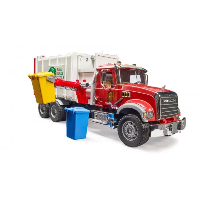 Camion poubelle MACK Granite avec chargement latéral Bruder en plastique pour les enfants de 4 ans et plus - Franc Jeu Repentigny