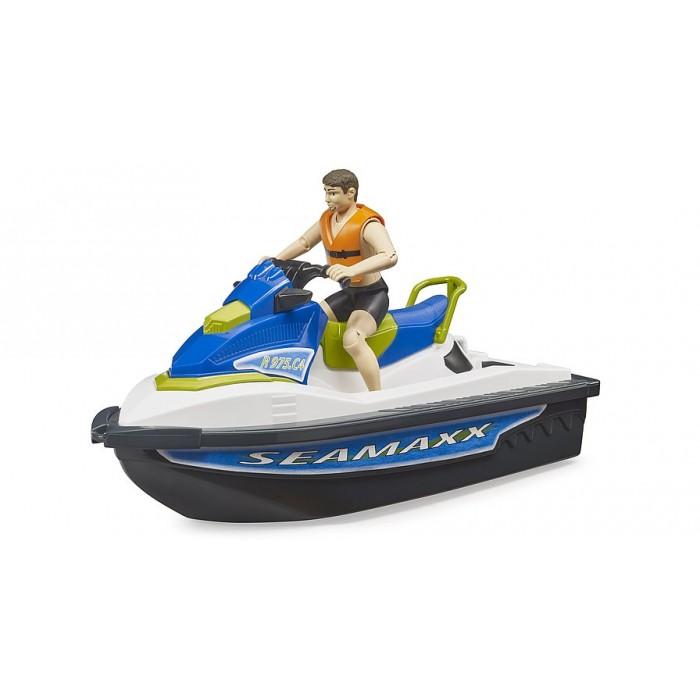 Motomarine avec conducteur Bruder en plastique pour les enfants de 4 ans et plus- Franc Jeu Repentigny