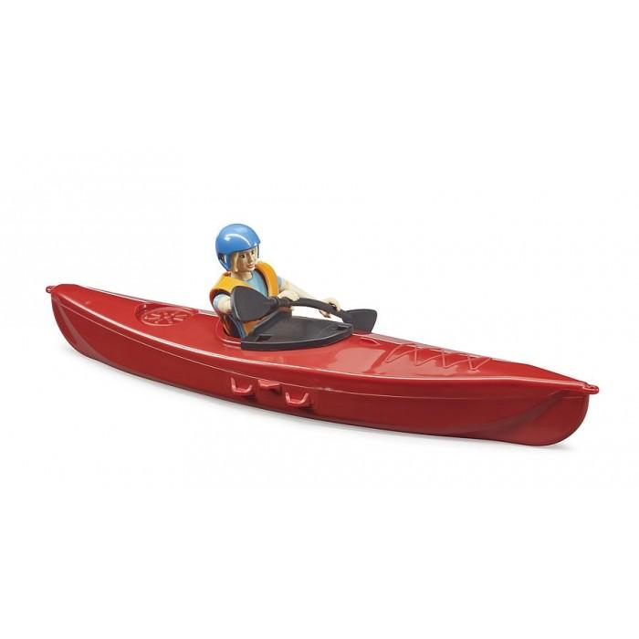 Bruder: Kayak et figurine Bruder en plastique pour les enfants de 4 ans et plus- Franc Jeu Repentigny
