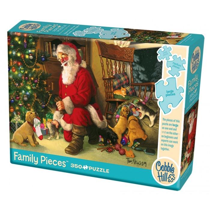 Casse-tête Cobble Hill de 350 pièces pour la famille : Santa's Lucky Stocking