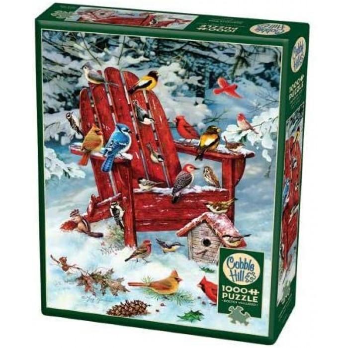 Casse-tête vertical Cobble Hill de 1000 pièces pour adultes: Adirondack Birds - Franc Jeu Repentigny