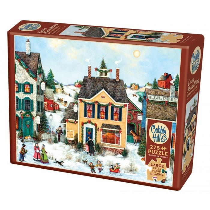 Casse-tête Cobble Hill de 275 pièces XXL pour adultes: Christmas Town - Franc Jeu Repentigny