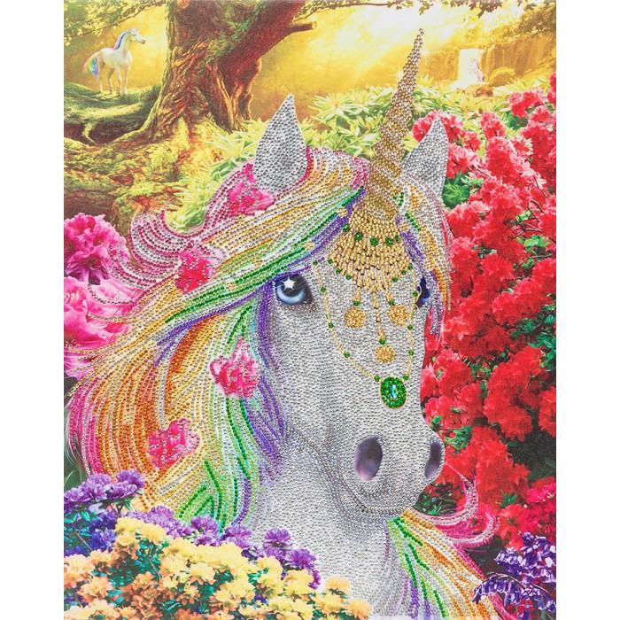 Unicorn Forest est une peinture de diamants pré-encadrée de la compagnie Craft Bubby - Franc Jeu Repentigny