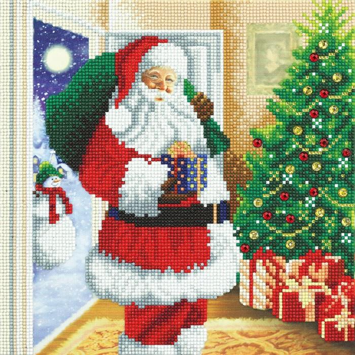Santa's home!est une peinture de diamants pré-encadrée de la compagnie Craft Bubby - Franc Jeu Repentigny