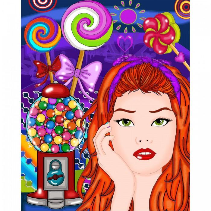 Candy est une peinture de diamants de la compagnie québecoise Jacarou - Franc Jeu Repentigny