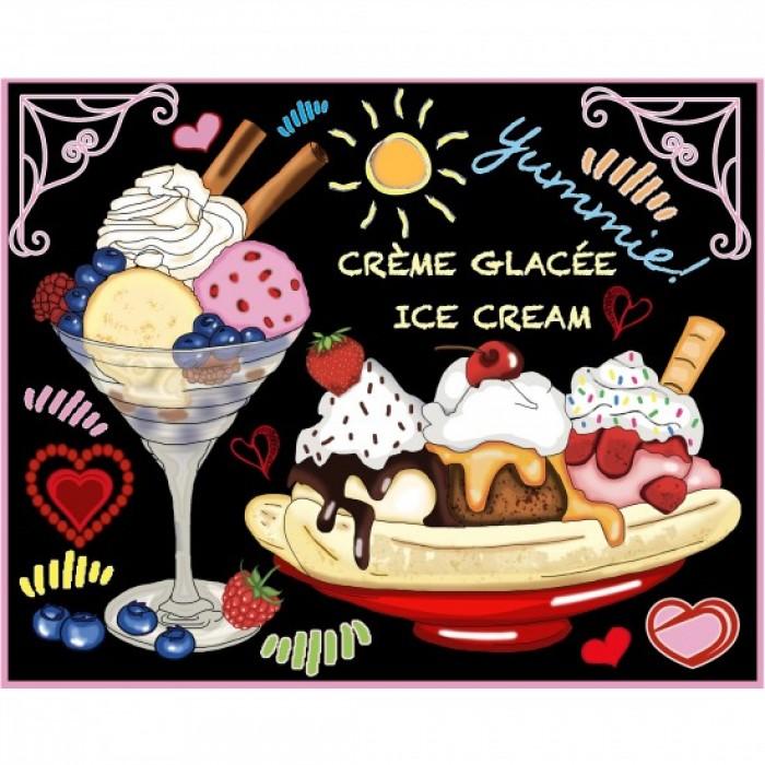 Crème Glacée est une peinture de diamants de la compagnie québecoise Jacarou - Franc Jeu Repentigny