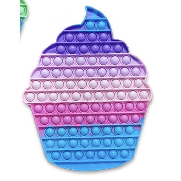 OMG! Pop Fidgety: Jumbo XXL Cupcake (arc-en-ciel bleu)est une nouvelle tendance pour 8 ans et plus - Franc Jeu Repentigny