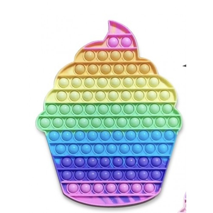 OMG! Pop Fidgety: Jumbo XXL Cupcake (arc-en-ciel rose)est une nouvelle tendance pour 8 ans et plus - Franc Jeu Repentigny