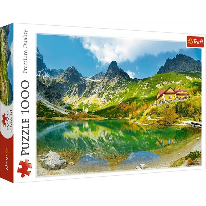 Casse-tête :  L'auberge au bord de l'Étang Vert, Tatras, Slovaqui - 1000 pcs - Trefl