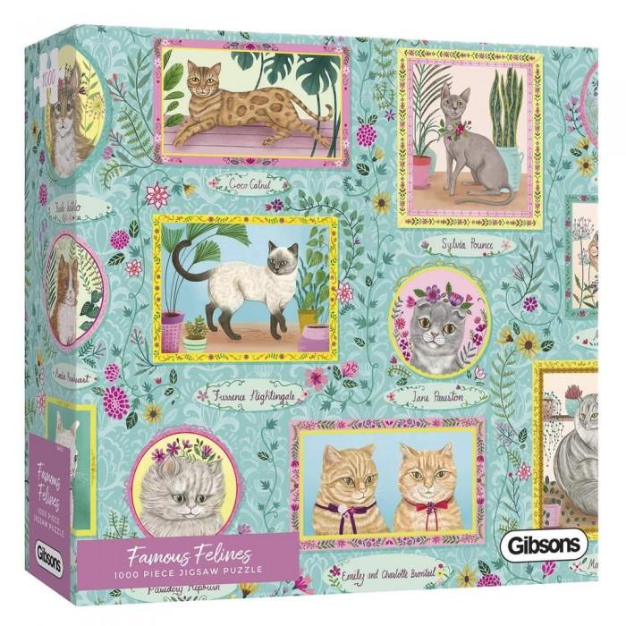 Casse-tête : Famous Felines (P. Phuapradit) - 1000 pcs - Gibsons