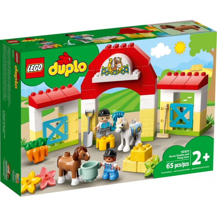 LEGO Duplo : L'écurie et les poneys - 65 pcs