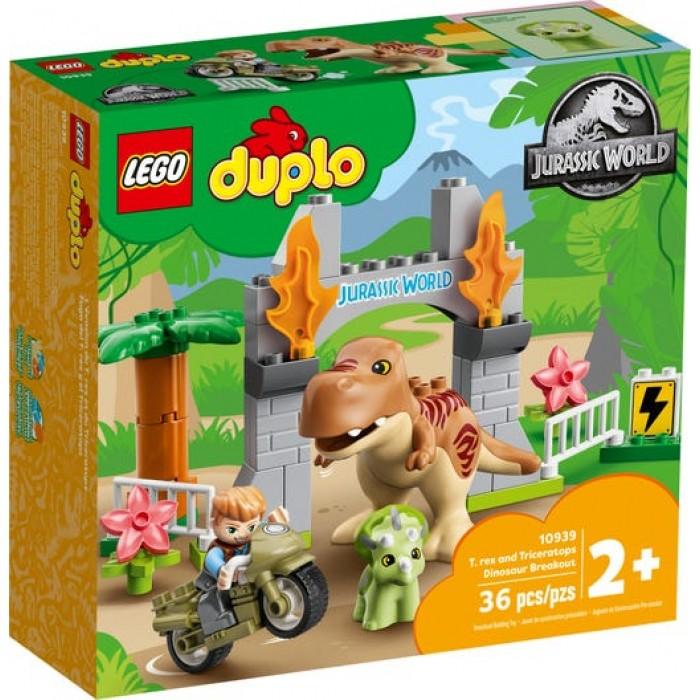 LEGO Duplo : L'évasion du T. rex et du Triceratops - 36 pcs
