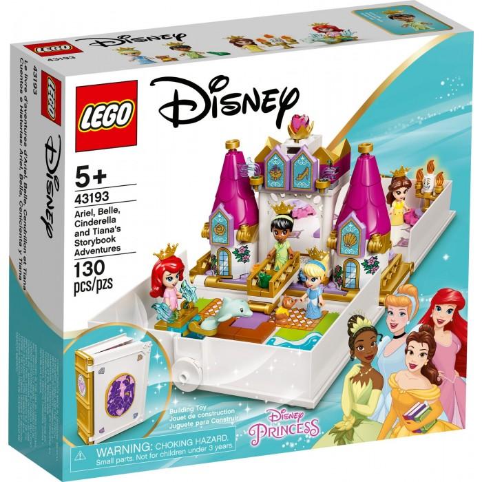 LEGO Disney: Les aventures d'Ariel, Belle, Cendrillon et Tiana dans un livre de contes - 130 pcs
