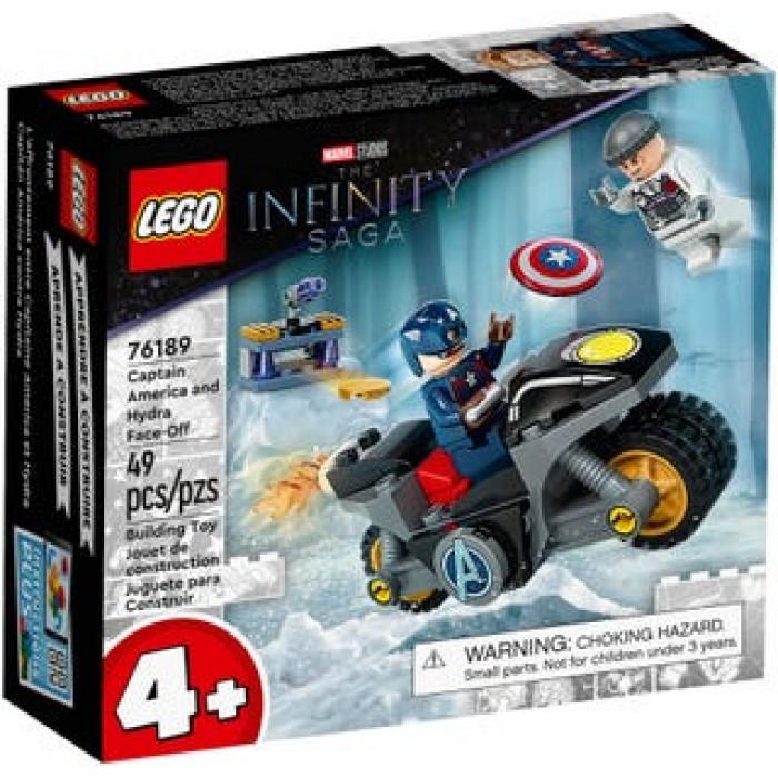LEGO Marvel : L'affrontement entre Capitaine America et Hydra - 49 pcs