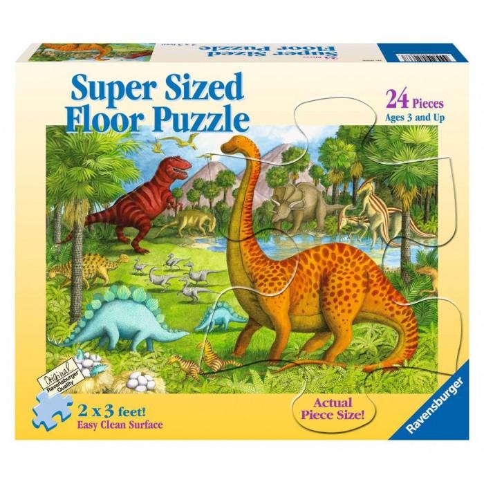 Casse-tête de plancher de 24 pièces pour les enfants de 3 ans + : Amis dinosaures (Ravensburger) - Franc Jeu Repentigny