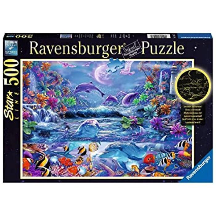La magie du clair de lune est uncasse-tête Ravensburger de 500 pièces qui brille dans le noir - Franc Jeu Repentigny