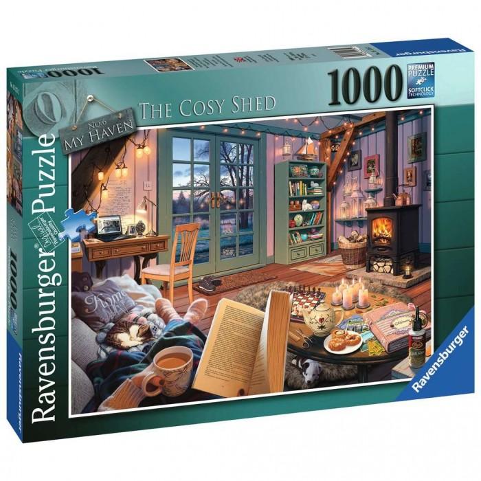 Mon refuge #6 - Le cabanon cosyest un casse-tête 1000 morceaux de Ravensburger - Franc Jeu Repentigny