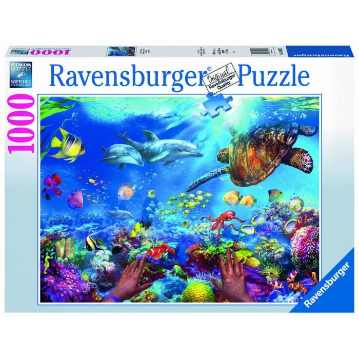 Plongée Sous-marine est un casse-tête de 1000 morceaux de Ravensburger - Franc Jeu Repentigny