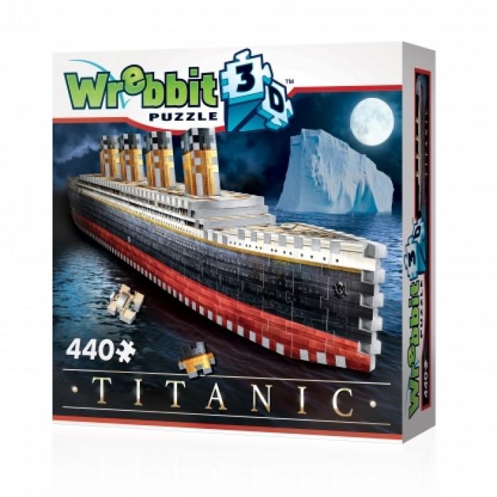 Casse-tête 3D - Wrebbit 440 pcs -Titanic  #W3D-1014 - Franc Jeu Repentigny